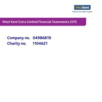 12. West Kent Extra Financial Statements 2015 Cover.jpg