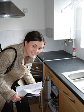 Kerry in a new kitchen