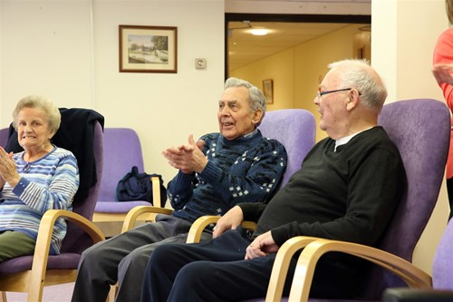 Three older people in one of West Kent's schemes