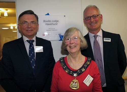 VIPs at the Bowles Lodge opening