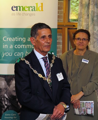 Ashford mayor cllr Winston Michael and deborah White
