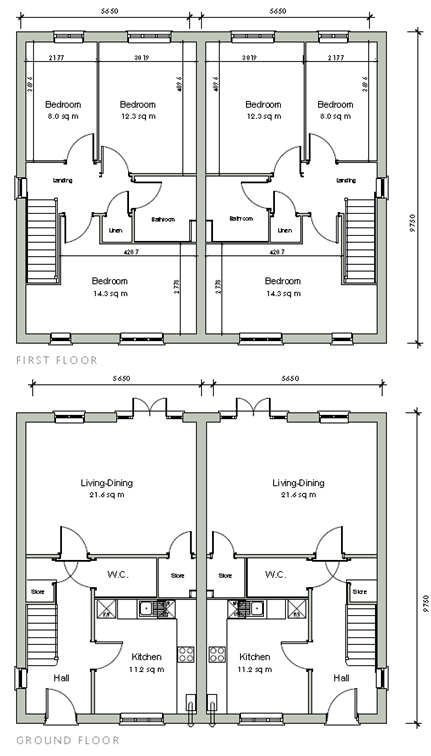 floor plans for 3 bedroom homes