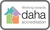 Logo showing we are working towards daha accreditation