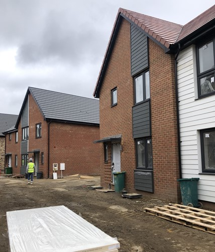 New homes at Oare Lakes, Faversham